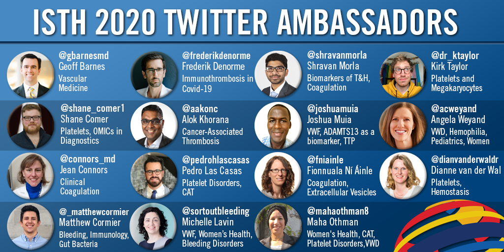 ISTH Announces Official ISTH 2020 Virtual Congress Twitter Ambassadors