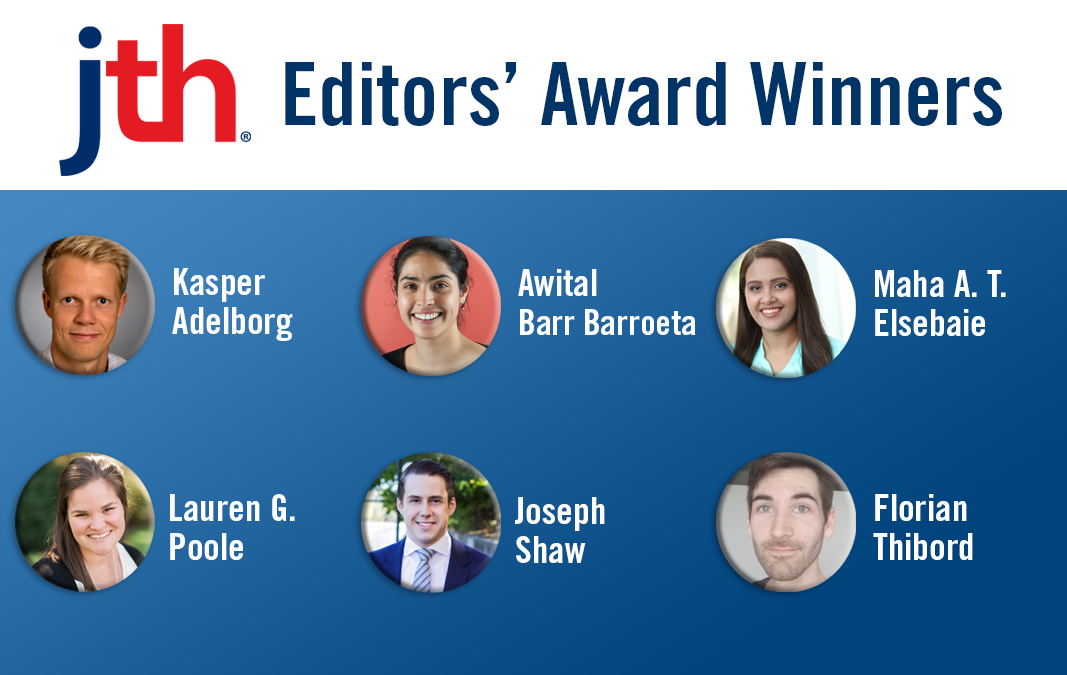 JTH Honors Six Early Career Authors With Editors' Awards