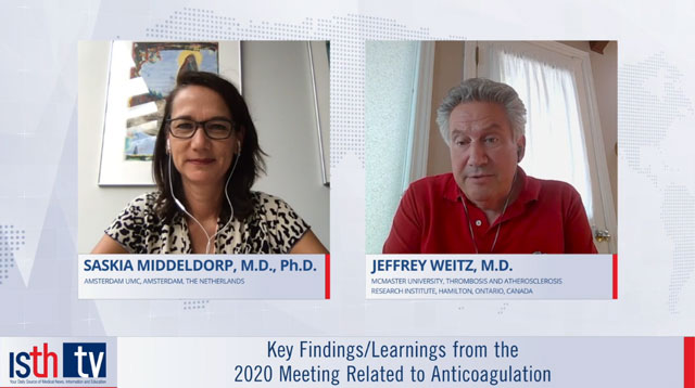 Key Findings/Learnings from the 2020 Meeting Related to Anticoagulation