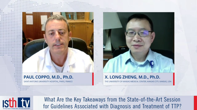 What Are the Key Takeaways from the State-of-the-Art Session for Guidelines Associated with Diagnosis and Treatment of TTP?